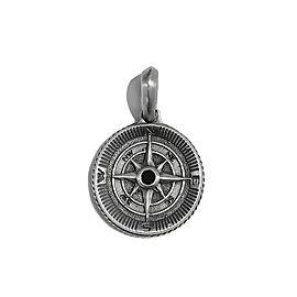 David Yurman Maritime Compass Sterling Silver and Diamond Pendant