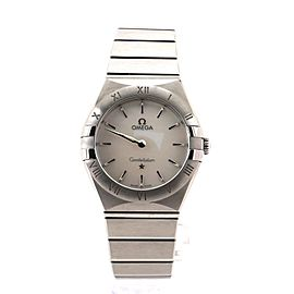 Omega Constellation Quartz Watch Stainless Steel and Mother of Pearl 28