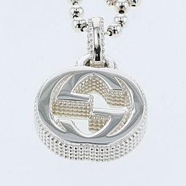 GUCCI 925 silver Interlocking G mini flower Necklace