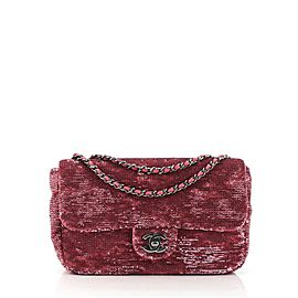 Chanel Classic Single Flap Bag Sequins Small
