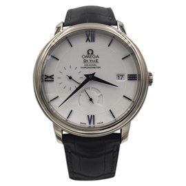 Omega DeVille 424.53.40.21.04.001 18K White Gold with White Dial Automatic 39.5mm Mens Watch