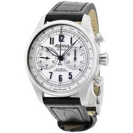 Alpina Startimer Classics AL860SCP4S6 Silver Dial Leather Strap 44mm Mens Watch