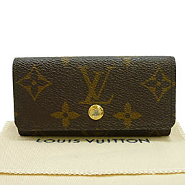 LOUIS VUITTON Monogram canvas Multicles 4 Key Holder Case M62631
