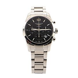 Longines Conquest Classic Chronograph Automatic Watch Stainless Steel 41