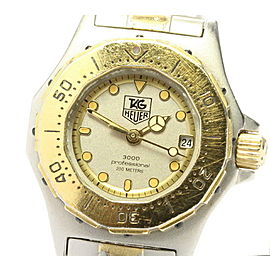 TAG HEUER Stainless Steel/Gold Plated 3000 professional Watch RCB-83