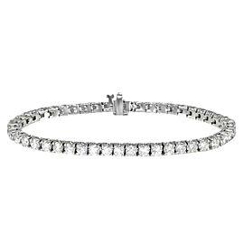 14K White Gold 6.65ctw. Diamond Tennis Bracelet Bracelet