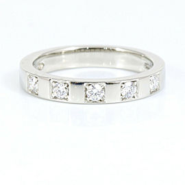 Bvlgari 5P Diamond Platinum Marry Me Band Ring CHAT-25