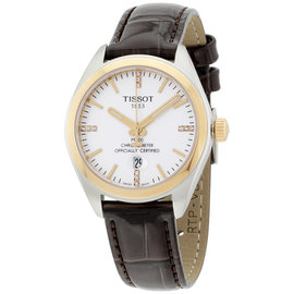 Tissot T1012512603600 Stainless Steel & Leather Quartz 33mm Unisex Watch
