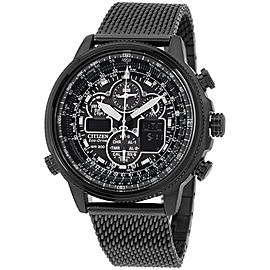 Citizen JY8037-50E Black Stainless Steel Quartz 48mm Mens Watch