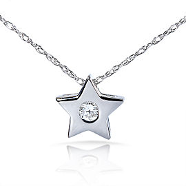 Diamond Bezel Star Pendant in Platinum