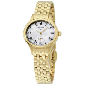 Tissot Bella Ora Piccola T1031103311300 Gold Tone Stainless Steel Quartz 29mm Womens Watch