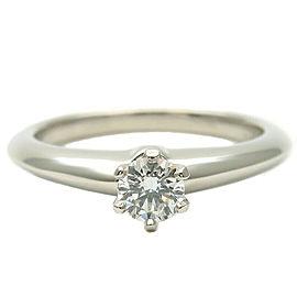 Tiffany & Co. 0.18ct Platinum Diamond Solitaire Ring