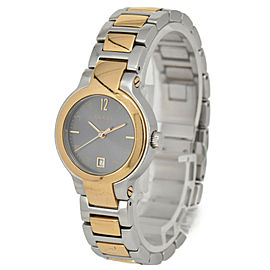 GUCCI 8900L Gray Dial GP/SS Date Quartz Ladies Watch