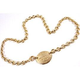 Tiffany & Co Return To Tiffany 18K Yellow Gold Necklace
