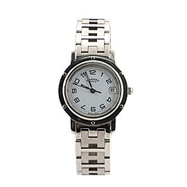 Hermes Clipper Quartz Watch Stainless Steel 24