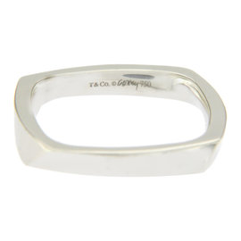 Tiffany & Co. 18K White Gold Frank Gehry Torque Ring Size 8