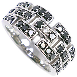 18k white gold/Black diamond Ring