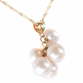 Pearl Necklace Pearl/K18 yellow gold Women
