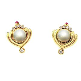 Lagos 18K Yellow Gold Onyx, Amethyst, Cultured Pearl, Diamond Earrings