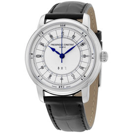 Frederique Constant Zodiac FC-724CC4H6 Stainless Steel & Leather Automatic 40mm Mens Watch