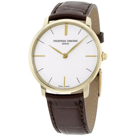 Frederique Constant Slimline FC200V5S35 Gold Tone Stainless Steel 38.4mm Mens Watch
