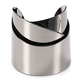 Alexis Bittar Metallic Miss Havisham Metal Geometric Stainless Steel Ribbon Cuff