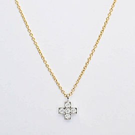 TIFFANY & Co. 18k gold/platinum/Diamond Crucy form Necklace