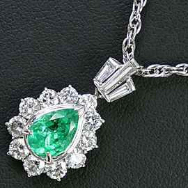Platinum /Emerald /diamond Necklace