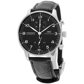 IWC IW371447 Stainless Steel & Leather Automatic 41mm Mens Watch