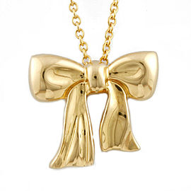 TIFFANY&Co. 18K yellow Gold ribbon Necklace CHAT-343