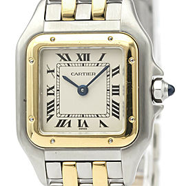 Polished CARTIER Panthere 18K Gold Stainless Steel Quartz Ladies Watch
