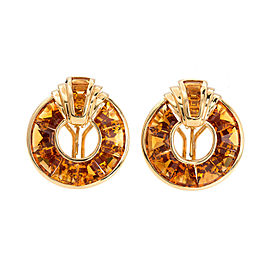Orange Yellow Citrine Pierced Non-Pierced Earrings
