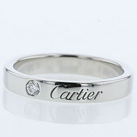 CARTIER platinum/diamond Engraved Ring TBRK-674
