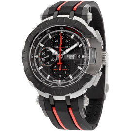 Tissot T0924172720100 Stainless Steel & Rubber Quartz 45.25mm Mens Watch