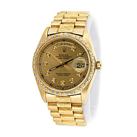 Mens Rolex 18K Gold Day-Date President Diamond 18078