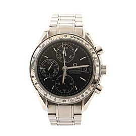 Omega Speedmaster Date Chronograph Automatic Watch Stainless Steel 37