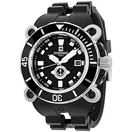 Zodiac Oceanaire ZO8532 Stainless Steel & Rubber Quartz 47mm Mens Watch
