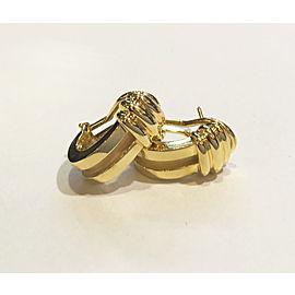 Tiffany & Co. Atlas 18K Yellow Gold Vintage Earrings