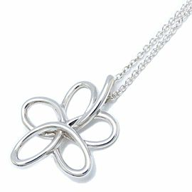 TIFFANY&CO 925 silver Flower Necklace