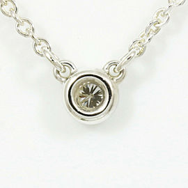 Tiffany & Co. Silver Diamond By The Yard Pendant Necklace CHAT-54