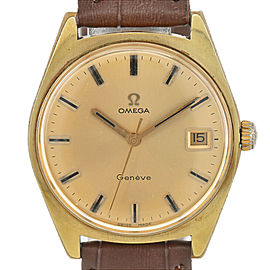 OMEGA Geneva Cal.613 gold Dial GP/Lether Hand Winding Men's Watch