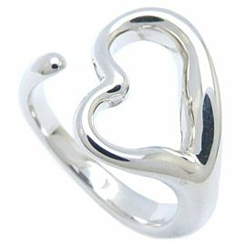 TIFFANY&CO 925 silver Eresa Peretti Open Heart Ring