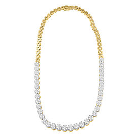 14K Yellow Gold 8 CTTW Round Cut Diamond Necklace
