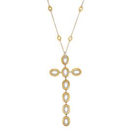 Nanis 18K Yellow Gold & Diamond Open Link Cross Chain Necklace