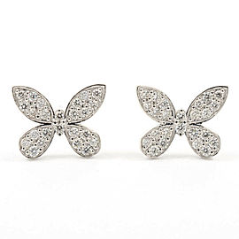 Platinum Diamond Pierced Earring