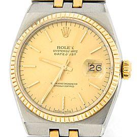 Rolex Oysterquartz Datejust 17013 Vintage 36mm Mens Watch