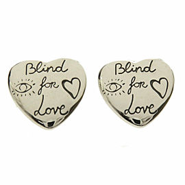 GUCCI Silver Blind for love earring