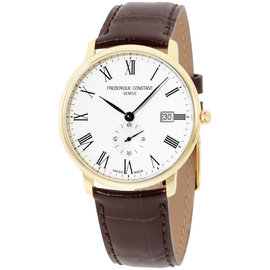 Frederique Constant Slimline FC-245WR5S5 Yellow Gold & Silver Dial 40mm Mens Watch