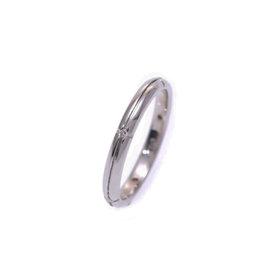 Tiffany & Co. 18K White Gold Diamond Ring Size 5.75