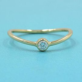 TIFFANY & CO 18k Yellow gold Wave Single Row Dialing RING